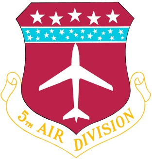 Coat of arms (crest) of the 5th Air Division, US Air Force