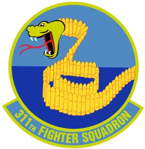 Coat of arms (crest) of the 311th Fighter Squadron, US Air Force