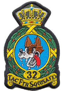 Coat of arms (crest) of the 32nd Tactical Fighter Squadron, US Air Force