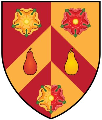 Arms of Wolfson College (Oxford University)