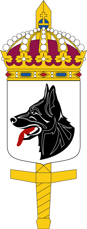 Coat of arms (crest) of the Military Dog Unit, Sweden