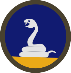 Coat of arms (crest) of the 59th Infantry Division Rattlesnake (Phantom Unit), US Army