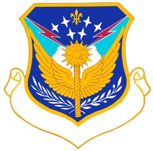 Coat of arms (crest) of the 43rd Air Division, US Air Force