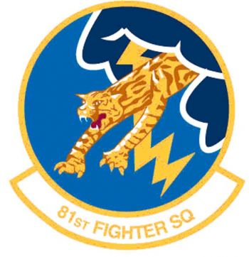 Coat of arms (crest) of the 81st Fighter Squadron, US Air Force