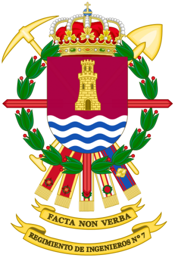 Coat of arms (crest) of the Engineer Regiment No 7, Spanish Army