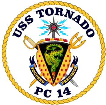 Coat of arms (crest) of the Coastal Patrol Ship USS Tornado (PC-14)
