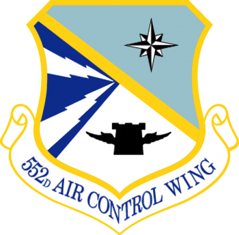 Coat of arms (crest) of the 552nd Air Control Wing, US Air Force