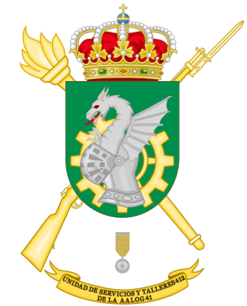 Coat of arms (crest) of the Logistics Services and Mechanical Workshops Unit 412, Spanish Army