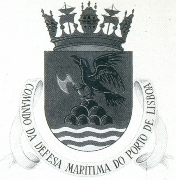 Coat of arms (crest) of the Maritime Defence Command of the Port of Lisbon, Portuguese Navy