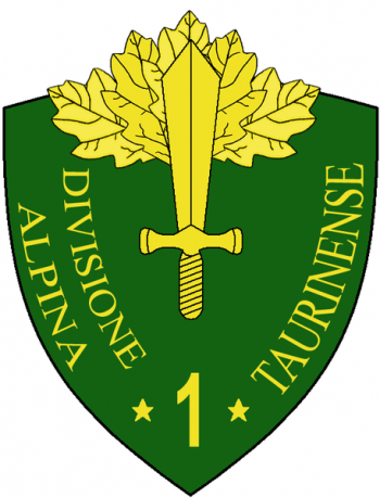 Coat of arms (crest) of the 1st Alpine Division Taurinense, Italian Army