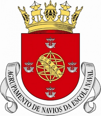 Coat of arms (crest) of the Naval School Ships Group, Portuguese Navy