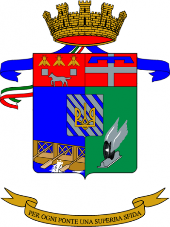 Coat of arms (crest) of the 2nd Bridge Engineer Regiment, Italian Army