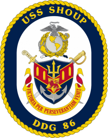Coat of arms (crest) of the Destroyer USS Shoup