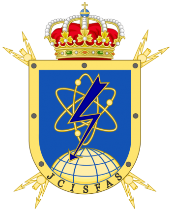 Coat of arms (crest) of the Communications and Information Systems Command of the Spanish Armed Forces, Spain