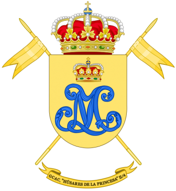Coat of arms (crest) of the Armoured Cavalry Group Husares de la Princesa, Spanish Army