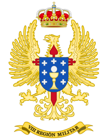 Coat of arms (crest) of the VIII Military Region, Spanish Army