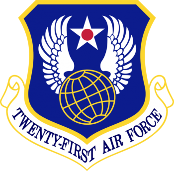 Coat of arms (crest) of the 21st Air Force, US Air Force