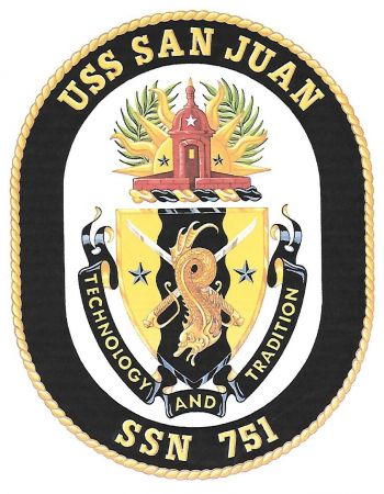Coat of arms (crest) of the Submarine USS San Juan (SSN-751)