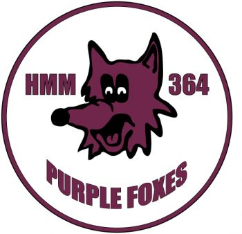 Coat of arms (crest) of the VMM-364 Purple Foxes, USMC