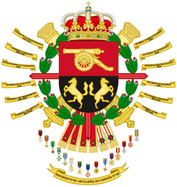 Coat of arms (crest) of the 20th Field Artillery Regiment, Spanish Army