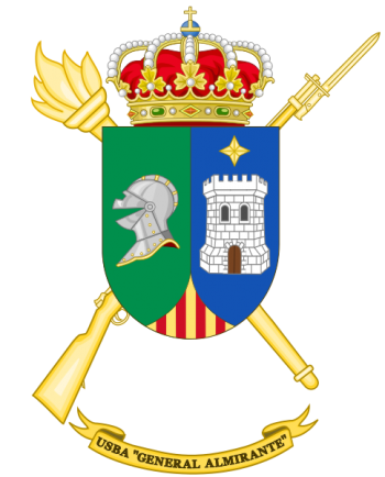 Coat of arms (crest) of the Base Services Unit General Almirante, Spanish Army