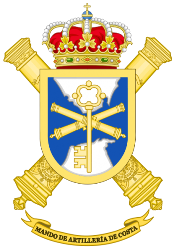 Coat of arms (crest) of the Strait Coastal Artillery Command, Spanish Army