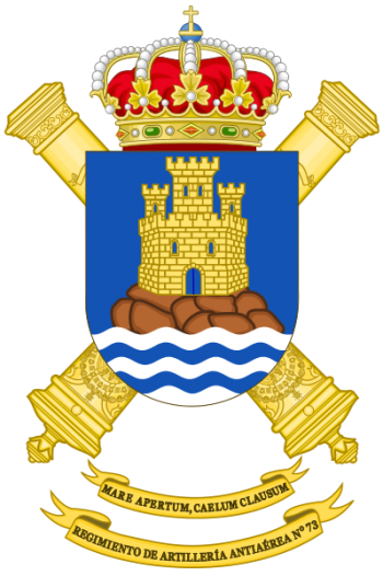 Coat of arms (crest) of the 73rd Air Defence Artillery Regiment, Spanish Army