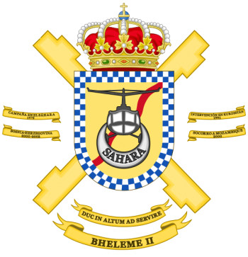 Coat of arms (crest) of the Emergency Helicopter Battalion II, Spanish Army
