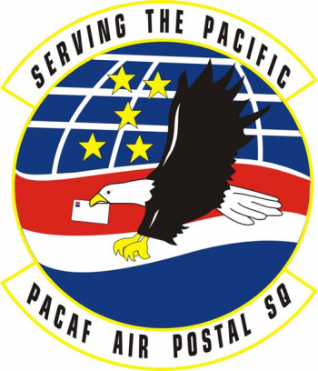 Coat of arms (crest) of the PACAF Air Postal Squadron, US Air Force