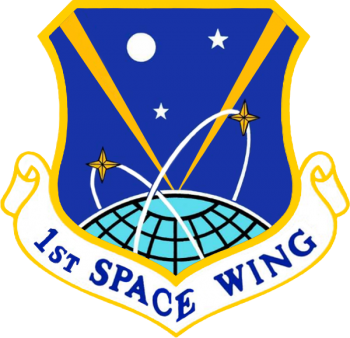 Coat of arms (crest) of the 1st Space Wing, US Air Force