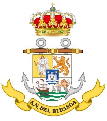 Coat of arms (crest) of the Naval Assistantship Bidasoa, Spanish Navy