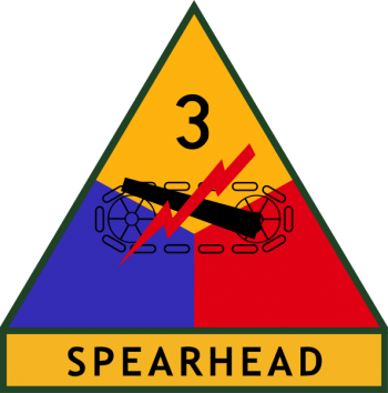 Coat of arms (crest) of the 3rd Armored Division Spearhead, US Army