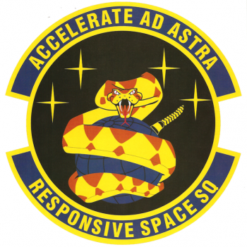 Coat of arms (crest) of the Responsive Space Squadron, US Air Force