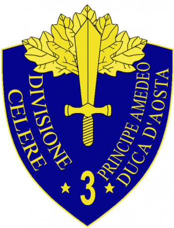 Coat of arms (crest) of the 3rd Fast Division Principe Amadeo Duca d'Aosta, Italian Army