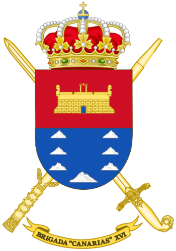 Coat of arms (crest) of the Brigade Canarias XVI, Spanish Army