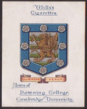 Arms of Downing College (Cambridge University)