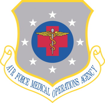 Coat of arms (crest) of the Air Force Medical Operations Agency, US Air Force
