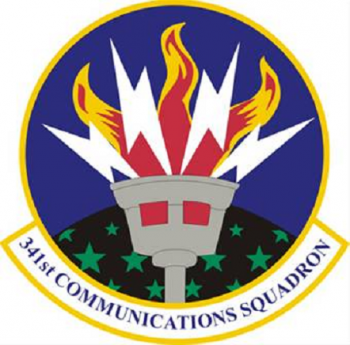 Coat of arms (crest) of the 341st Communications Squadron, US Air Force