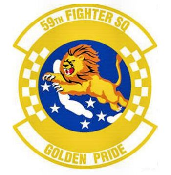 Coat of arms (crest) of the 59th Fighter Squadron, US Air Force