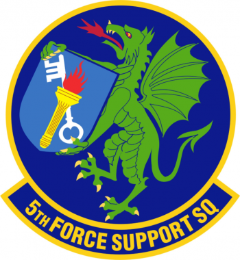 Coat of arms (crest) of the 5th Force Support Squadron, US Air Force