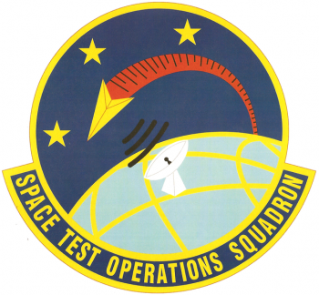Coat of arms (crest) of the Space Test Operations Squadron, US Air Force