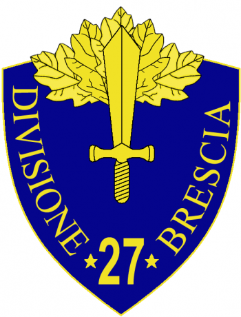 Coat of arms (crest) of the 27th Infantry Division Brescia, Italian Army