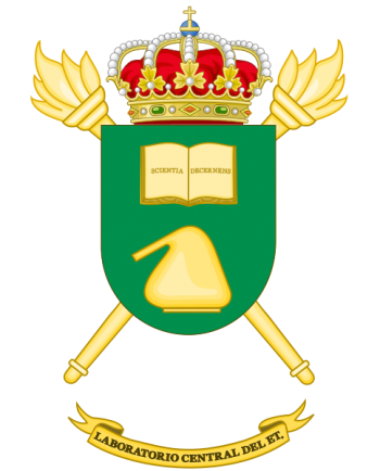 Coat of arms (crest) of the Army Central Laboratory, Spanish Army