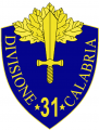 31st Infantry Division Calabria, Italian Army.png