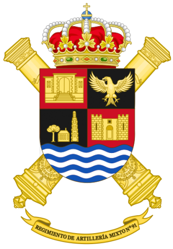 Coat of arms (crest) of the 91st Mixed Artillery Regiment, Spanish Army