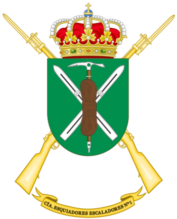 Coat of arms (crest) of the Skiing-Climbing Company 1-64, Spanish Army