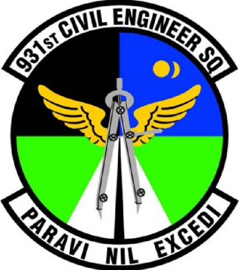 Coat of arms (crest) of the 931st Civil Engineer Squadron, US Air Force