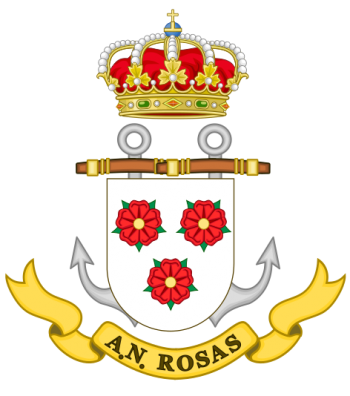 Coat of arms (crest) of the Naval Assistantship Rosas, Spanish Navy