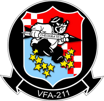 Coat of arms (crest) of the VFA-211 Checkmates, US Navy