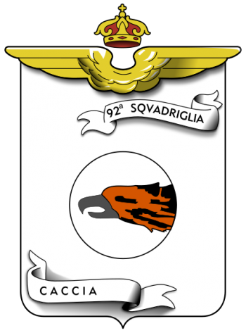 Coat of arms (crest) of the 92nd Fighter Squadron, Regia Aeronautica